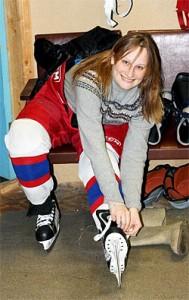 Как я хоккей поддерживала