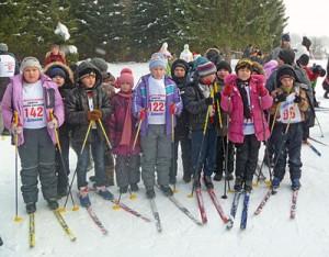 Померялись лыжами
