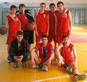Баскетбольная команда ДПТ на областной спартакиаде
