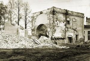 60-е годы XX в. Руины Смоленского храма. Снимок из музея