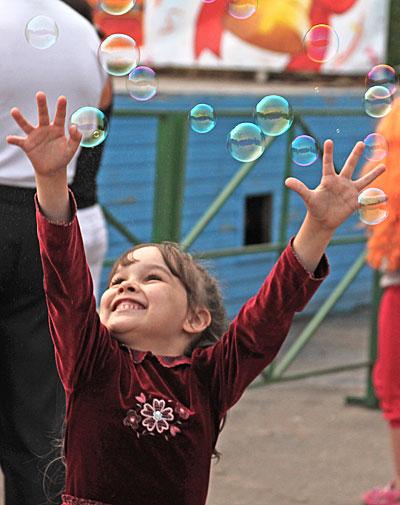 Мыльные пузыри и питон