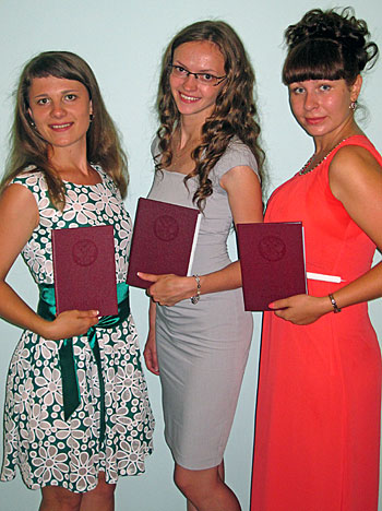 Красные дипломы бакалавров из Данилова