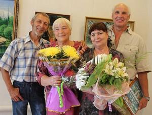 Юрий Фурсиков и Валерий Ермолаев со своими музами